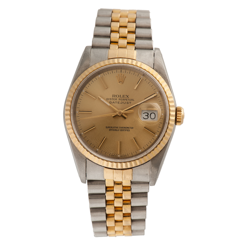 rolex oyster perpetual datejust in 18 karat yellow gold. Black Bedroom Furniture Sets. Home Design Ideas