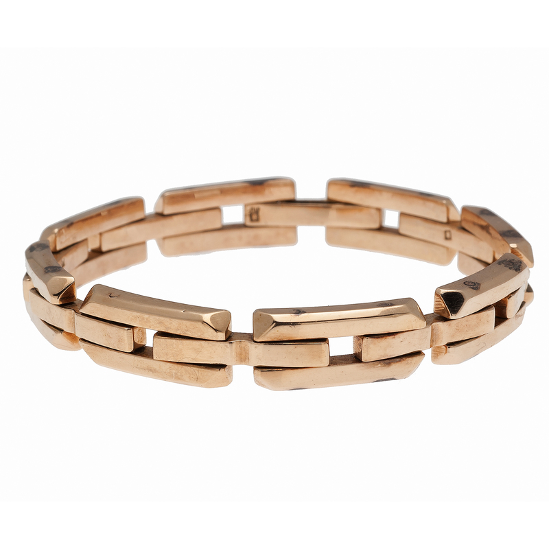 Articulated Link Bracelet in 18 Karat Yellow Gold