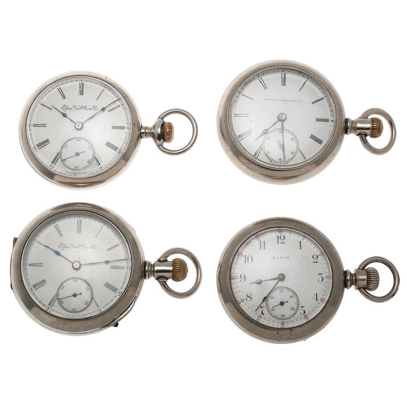 """Elgin """"Sidewinder"""" Pocket Watches Ca.1890"""