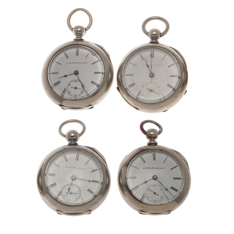 Elgin Size 18 Open Face Pocket Watches Ca. 1880