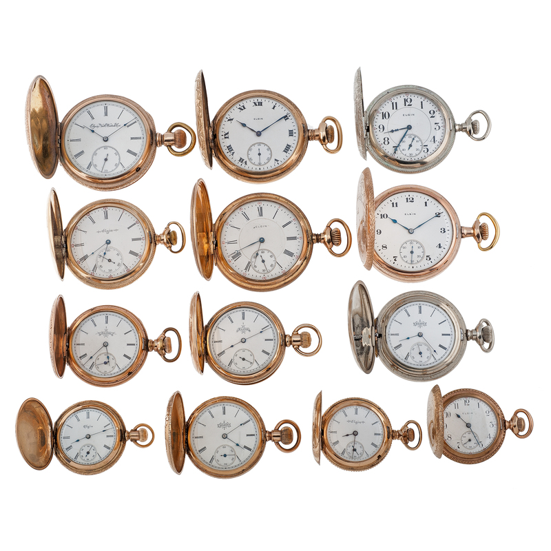 Elgin Hunter Case Pocket Watches