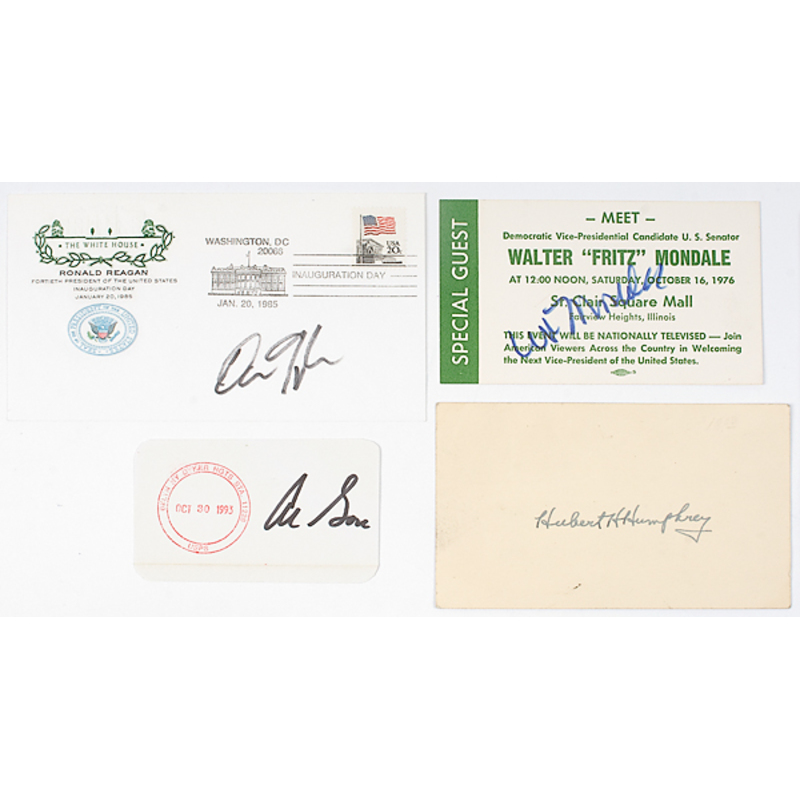 Vice Presidential Autograph Collection, Middle-to-Late 20th Century
