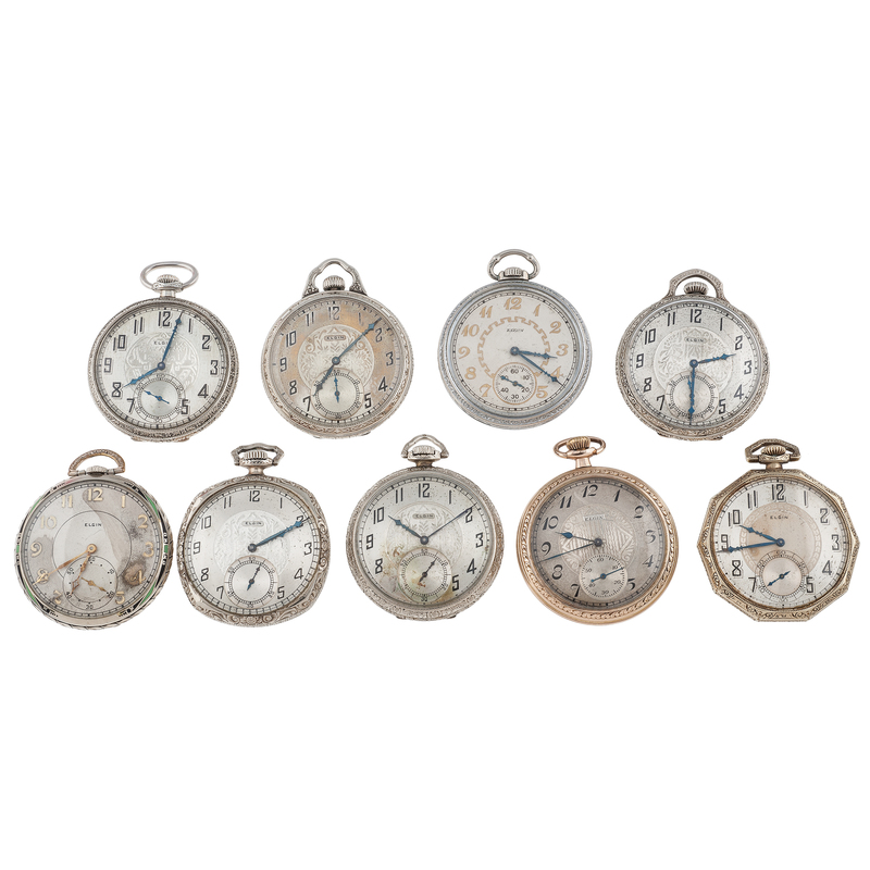 Elgin Open Face Pocket Watches Ca. 1920's