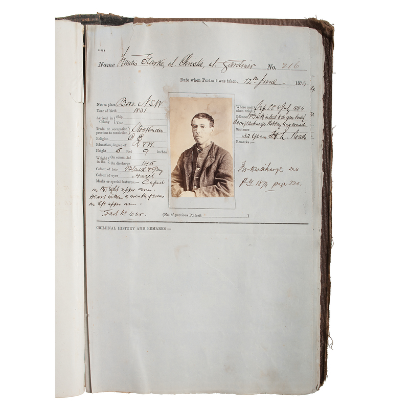 Darlinghurst Gaol Photographic Prisoner Records Featuring Australian Bushranger, Frank Gardiner Plus Other Convicted Felons, Ca 1873-1874