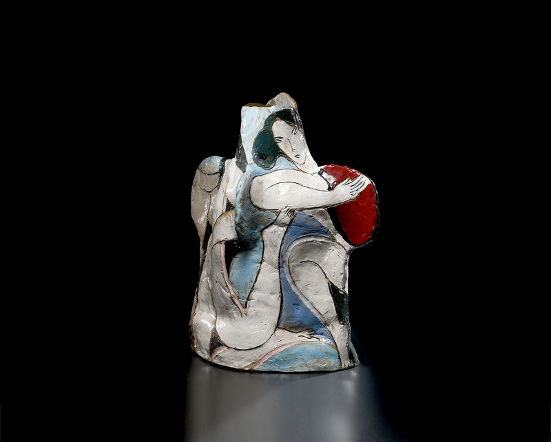 Rudy Autio, Stoneware Sculpture Magical Dancers
