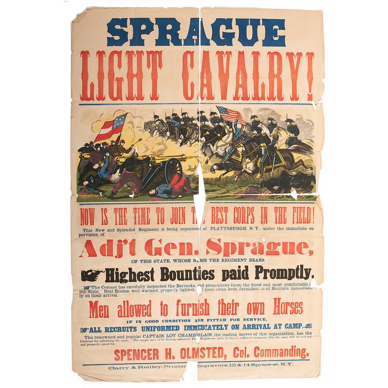Sprague Light Cavalry, Civil War Recruiting Broadside