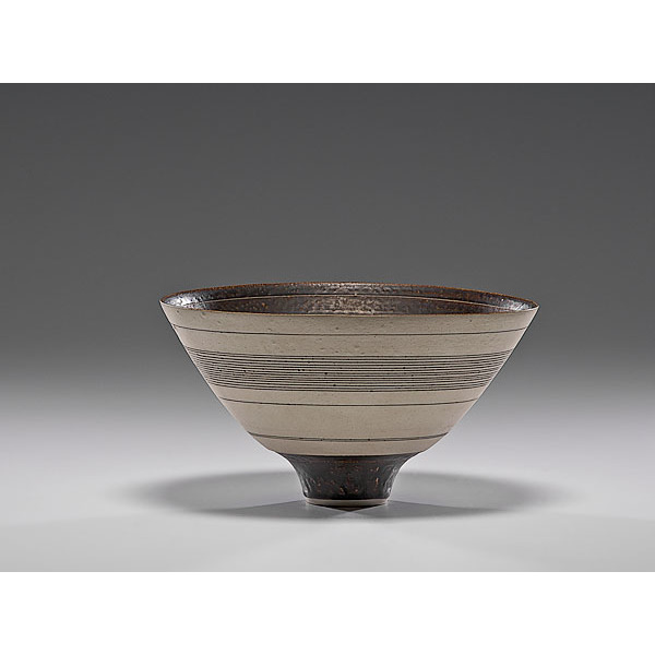 Masterworks: Lucie Rie Bowl with White Stripes