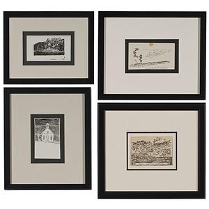 Harlan Hubbard Woodcuts