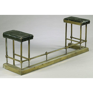 Brass Fireplace Fender with Seats,