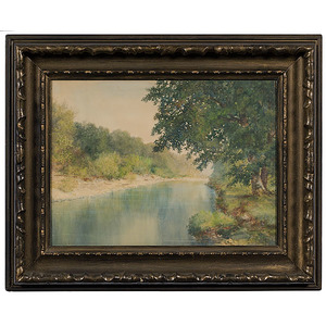 Rare Kentucky Watercolor Landscape  by William T. Hunleigh,  Watercolor