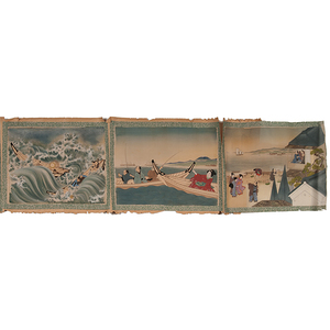 Japanese Erotic Scroll Painting