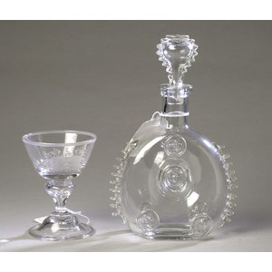 Engraved Wine & Decanter by Pairpoint and Baccarat ,