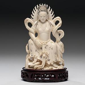 Chinese Ivory Bodhisattva Figure
