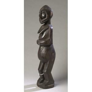Carved Wood Ghanain Fertility Figure, Baule Tribe.