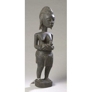 Carved Wood Majerid Tribal Fertility Figure from Zaire/Congo