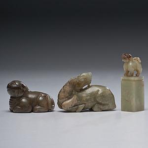 Chinese Jade Beast Carvings
