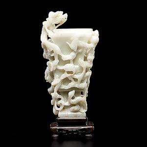 Jade Gu-Form Chinese Vase