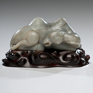 Chinese Carved Jade Camel