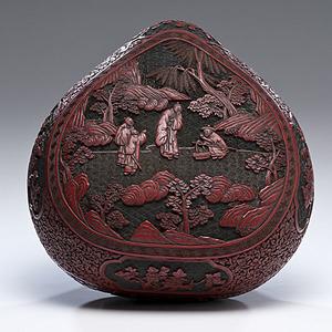 Chinese Covered Cinnabar Box