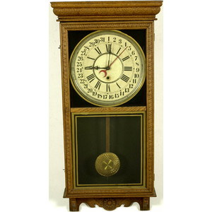 Sessions Oak Regulator E Calendar Clock,