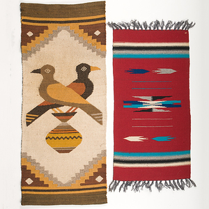 Collection of Mexican and Navajo Weavings