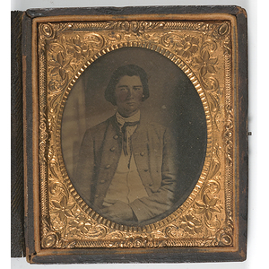 Sixth Plate Ambrotype of Possible Confederate
