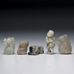 Chinese Jade Figural Carvings