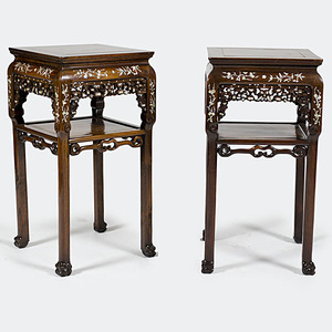 Chinese Export Inlaid Tables
