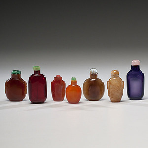 Collection of Glass Chinese Snuff Bottles
