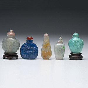 Jade and Hardstone Chinese Snuff Bottles