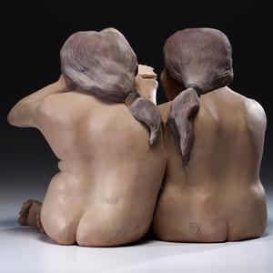 Roxanne Swentzell The Sandwich Clay Sculpture