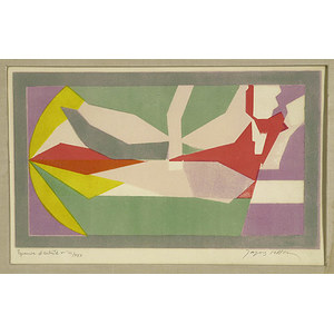 Abstract Chromolithograph by Jacques Villon,