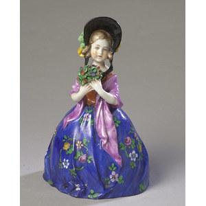 German Hand-Painted Porcelain Figurine