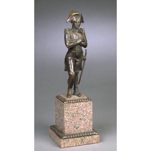 Bronze Statue on Marble Plinth of Napoleon,