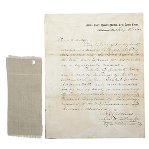 Capitol of Confederacy Flag Relic, Plus Confederate Bank Notes
