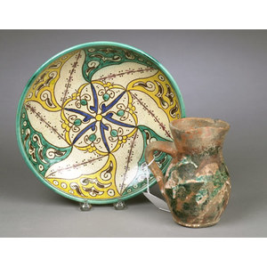 Two Pieces of Persian Pottery,