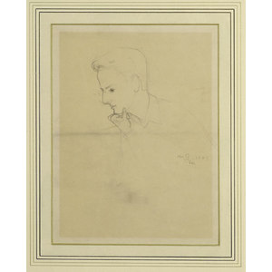 William Gebhardt Pencil Sketch,