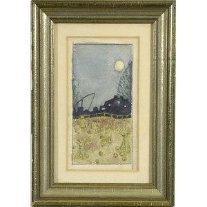 Amy M. Davies Watercolor Landscape,