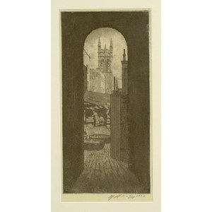 Edward T. Hurley Etching,