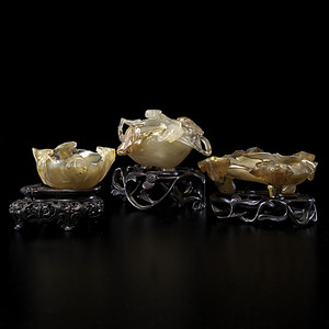 Chinese Agate Water Coupes