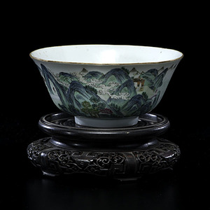 Chinese Daoguang Famille Verte Bowl