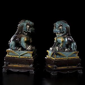 Chinese Sancai Foo Dogs