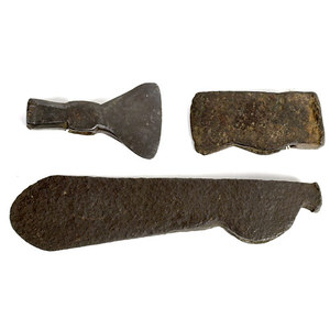 Early Hand Wrought Trade Hatchet or Axe Heads,