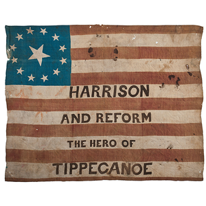 Scarce William Henry Harrison Campaign Flag Banner