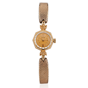 Ladies Elgin 14 Karat Yellow Gold Wristwatch