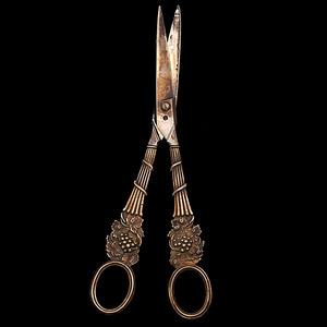 George III Sterling Grape Scissors