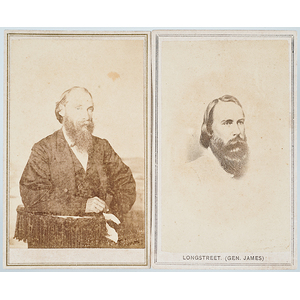 CSA General James Longstreet, Possible Unpublished CDV, Plus