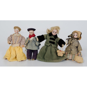 Miniature German Bisque Dolls