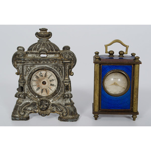 Miniature Gubelin and Table Clocks