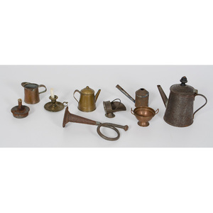 Child's Copper and Tin Accessories